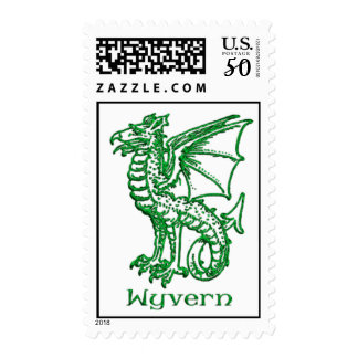 Wyvern medieval heraldry postage