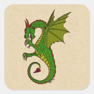 Wyvern Square Sticker