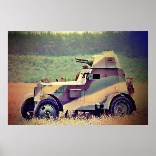 Wz del Ursus. Poster del vehículo ligero blindado