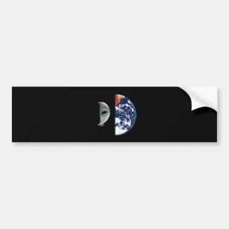 x001 ALIEN EARTH GRAPHIC FANTASY SCIENCE FICTION B Bumper Sticker