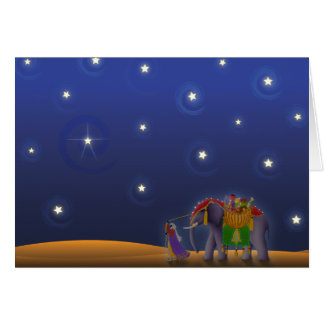 X001 Starry Holiday Night Greeting Card
