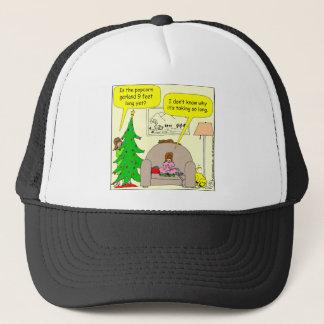 x01 Christmas tree and popcorn garland Trucker Hat