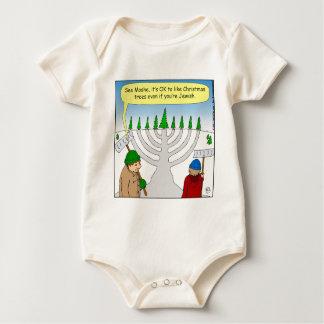 x04 Jews like Christmas too - cartoon Baby Bodysuit