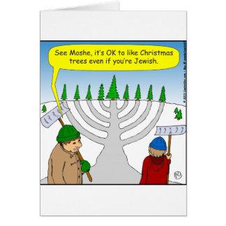 x04 Jews like Christmas too - cartoon Card