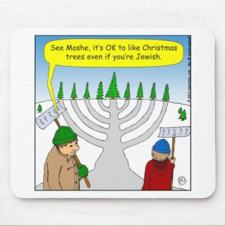 x04 Jews like Christmas too - cartoon Mouse Pad