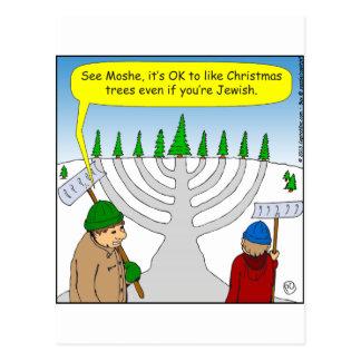 x04 Jews like Christmas too - cartoon Postcard