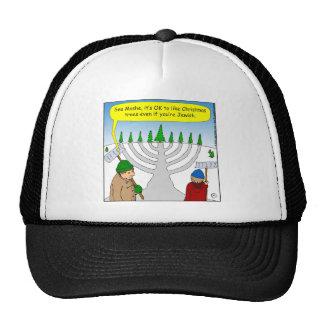x04 Jews like Christmas too - cartoon Trucker Hat