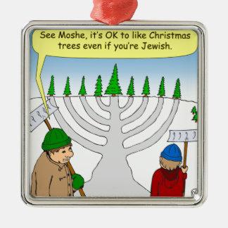 x04 usted puede disfrutar de navidad incluso si adorno navideño cuadrado de metal