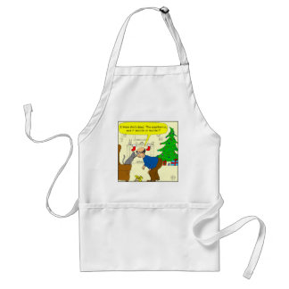 x05 Suicide or murder by cat! Cartoon Adult Apron