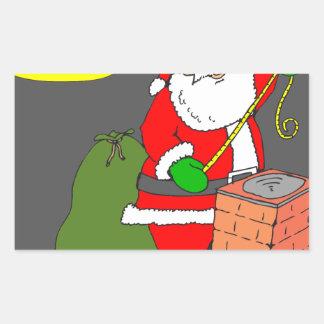 x06 Santa says less cookies Cartoon Rectangular Sticker