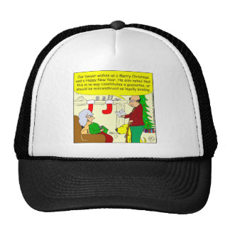 x08 Christmas card from our lawyer - cartoon Trucker Hats
