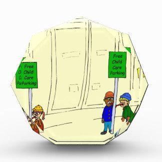 x09 Child care parking at mall cartoon Acrylic Award