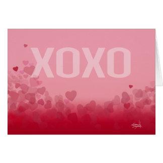 X0X0 abraza y besa amor de la tarjeta del día de