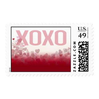 X0X0 Hugs & Kisses Heart Festival Valentine Stamp