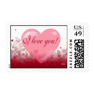 X0X0 I Love You Heart Festival Valentine Stamp