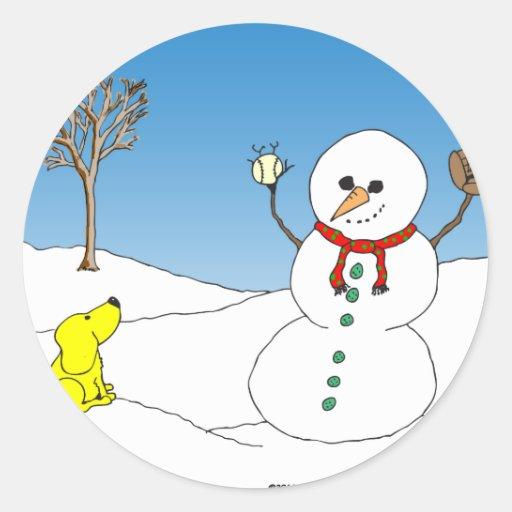 x12 snowman baseball cartoon stickers