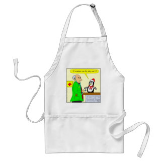 x14 reindeer can fly cartoon adult apron