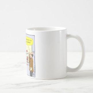 x27 Santa broke into your house cartoon Coffee Mug