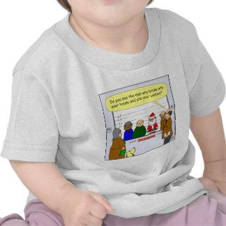 x27 Santa broke into your house cartoon Tee Shirts