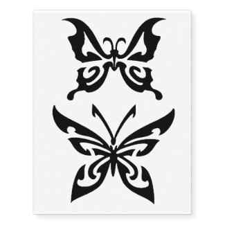 x2 butterfly temporary tattoo