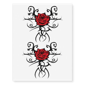 x2 the rose temporary tattoo