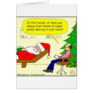 x30 Santa habla con su terapeuta - dibujo animado Tarjeta De Felicitación