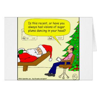 x30 Santa talks to his therapist - Cartoon Card