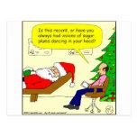 x30 Santa talks to his therapist - Cartoon Postcard
