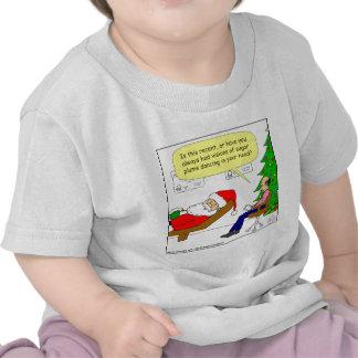 x30 Santa talks to his therapist - Cartoon T-shirt
