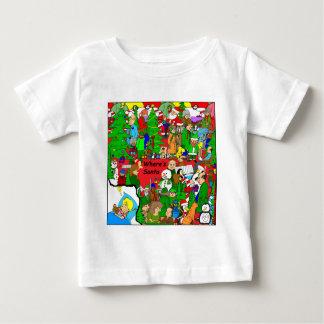 x37 Wheres Santa cartoon Baby T-Shirt