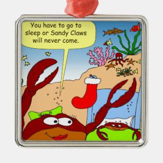 x39 sandy claws cartoon christmas ornament