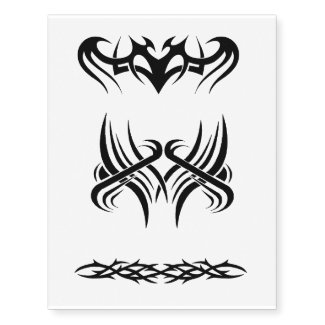 x3 tribal temporary tattoo