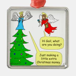x42 angel extra money cartoon christmas ornaments