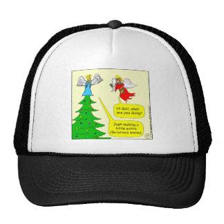 x42 angel extra money cartoon trucker hat