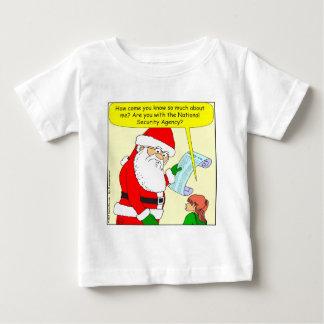 x43 santa works for NSA cartoon Baby T-Shirt