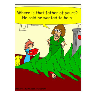 x46 father wanted to help cartoon postcard