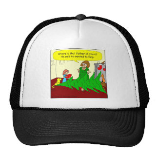 x46 father wanted to help cartoon trucker hat
