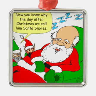 x47 Santa Snores cartoon Metal Ornament