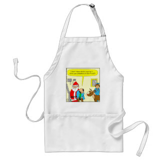 x48 consult an electrician cartoon adult apron