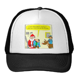 x48 consult an electrician cartoon mesh hats