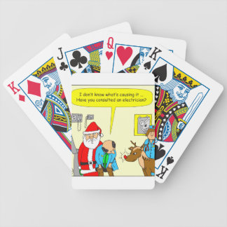 x48 consult an electrician cartoon bicycle card deck