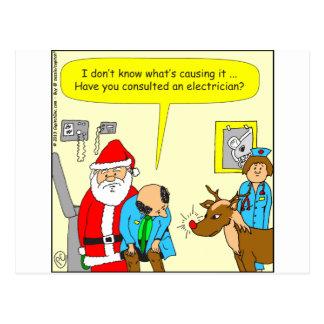 x48 consult an electrician cartoon postcard