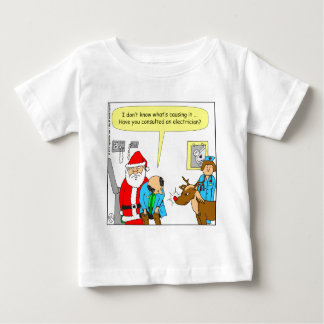 x48 Santa takes Rudolph to the doctor - cartoon Baby T-Shirt