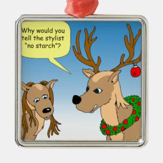 x50 no starch deer cartoon metal ornament