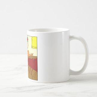 x55 Cat butt mistletoe Christmas cartoon Coffee Mug