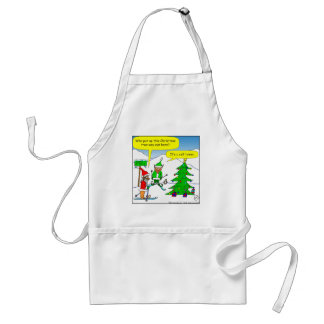 x56 cell tower christmas tree cartoon adult apron