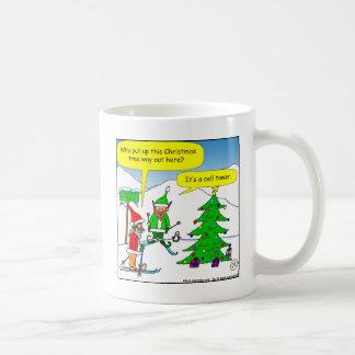 x56 cell tower christmas tree cartoon coffee mug