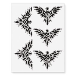 x5 tribal eagel temporary tattoo