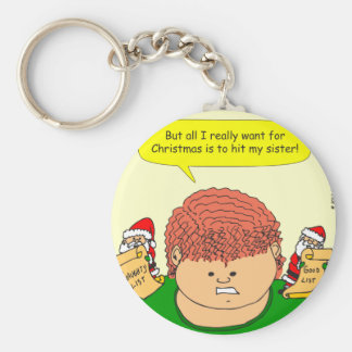 x60 want to hit my sister cartoon key chain