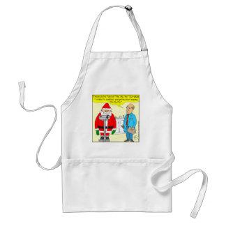x63 santa say no no no to cookies cartoon adult apron